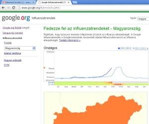 A 2013. februári állás, halványan a tavalyi (2011/2012) járványgörbe