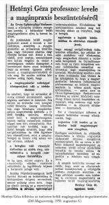 Hetényi Géza írása a Dél-Magyarország-ban
