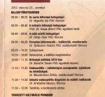 A szombati program részlete
