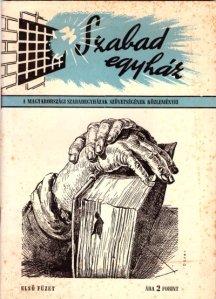 1947-ben jelent meg a kiadvány - a Szabad Egyházak Tanácsának füzete