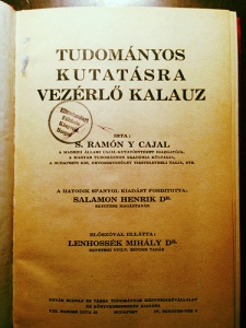 Az 1928-as magyar kiadás belső címlapja