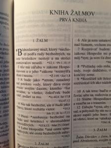 Az első zsoltár nyomtatásban a Rohácsek féle fordításból