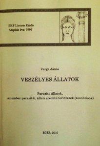 Varga János zoonózisokról szóló könyve