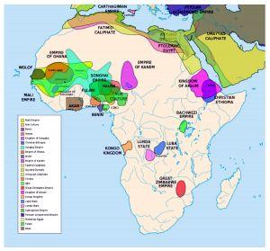 A Lunda birodalom LUNDA STATE jelzéssel Afrika szívében található