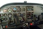 Cessna 172 kabin - műszerfal